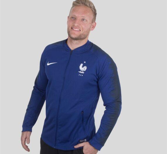 Мъже  Мъжко облекло  Суичъри  Суичъри без качулка Nike Fff M Nk Anthm Fb Jk 1030597-6260458