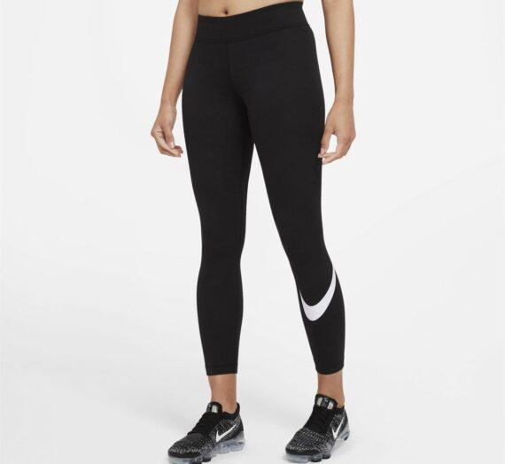 Спортове  Бягане  Облекло  Облекло дамско  Leggings Nike Sportswear Essential Women's Mid-Rise Swoosh Leggings 1550928-8124745