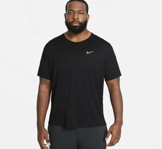 Мъже  Мъжко облекло  Блузи & Блузи с яка  С къси ръкави Nike Dri-FIT Miler Men's Running Top 469883-2856685
