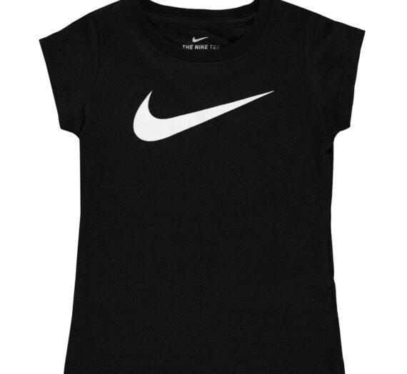 Спортове  Бягане  Облекло  Облекло детско  Tops Nike Swoosh T Shirt Infant Girls 499595-2956419