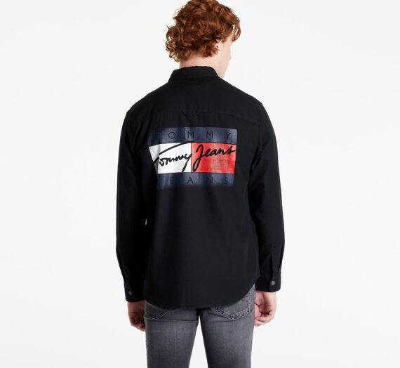 Ризи Tommy Jeans TJU Faded Flag Overshirt Black 707398