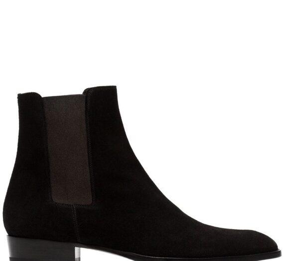 Leather And Suede Boots мъжки обувки Saint Laurent 832615174_40