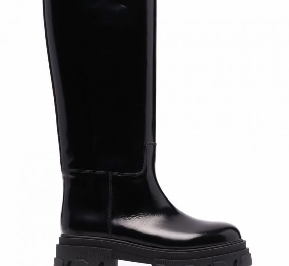 Leather Combat Boots дамски обувки Gia Couture 840015689_36