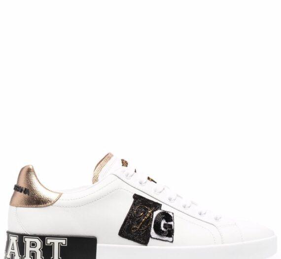Logo Leather Sneakers мъжки обувки Dolce & Gabbana 841241851_43_5