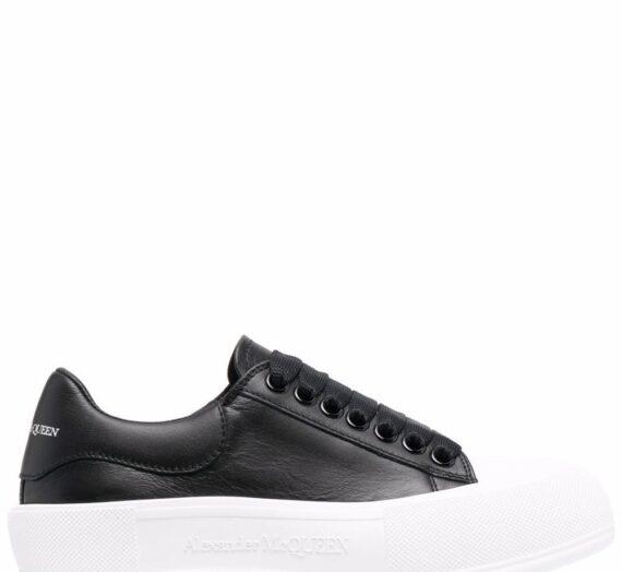 Deck Leather Sneakers дамски обувки Alexander Mcqueen 841487032_35