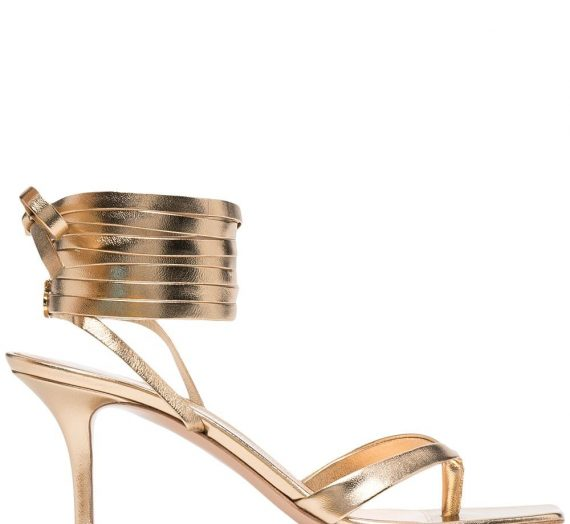 Ribbon Gladiator Leather Heel Sandals дамски обувки Gianvito Rossi 841885740_37