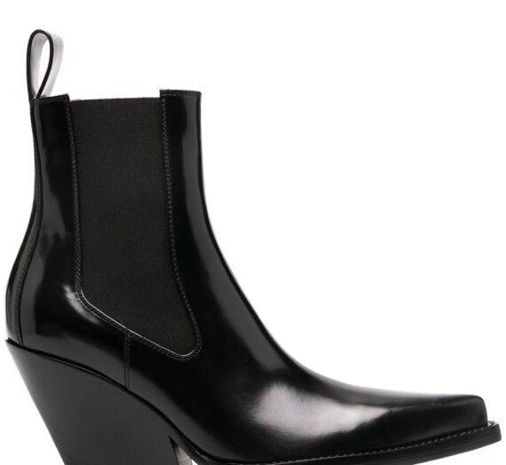 The Lean Leather Ankle Boots дамски обувки Bottega Veneta 842562816_36