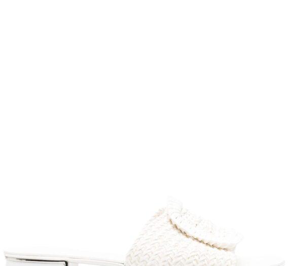 Leather Flat Sandals дамски обувки Casadei 842651469_36