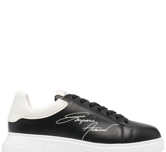 Logo Leather Sneakers мъжки обувки Emporio Armani 842804851_12