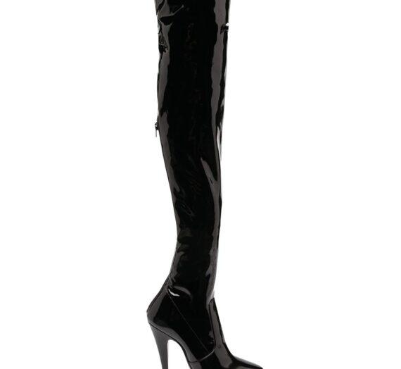 Aylah Patent Over-the-knee Boots дамски обувки Saint Laurent 842842163_37_5