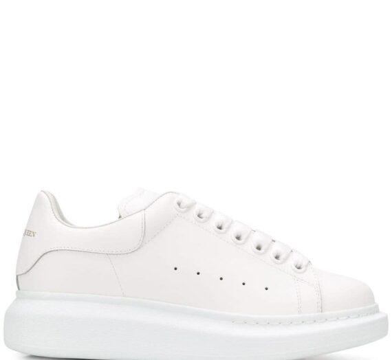 Oversize Leather Sneakers дамски обувки Alexander Mcqueen 843615021_40
