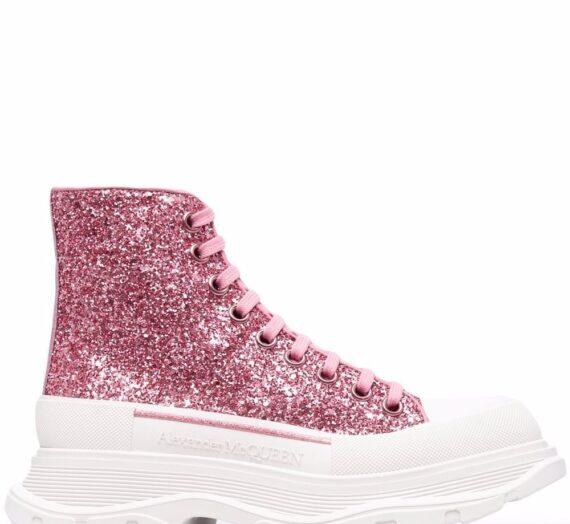 Tread Slick Glittered Sneakers дамски обувки Alexander Mcqueen 843708798_38_5