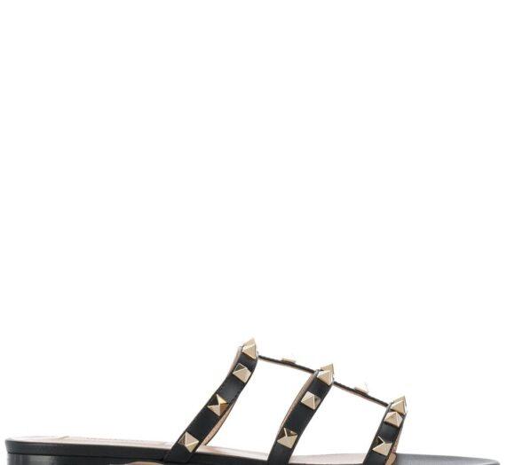 Rockstud Leather Sandals дамски обувки Valentino Garavani 843834860_35_5