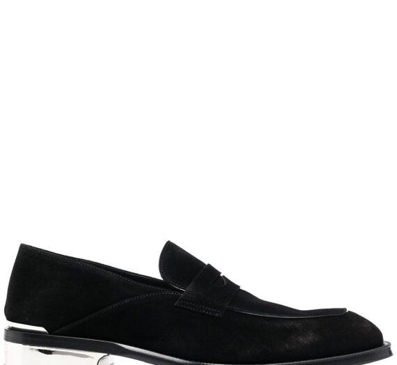Suede Metallic Heel Loafers мъжки обувки Alexander Mcqueen 843998166_44