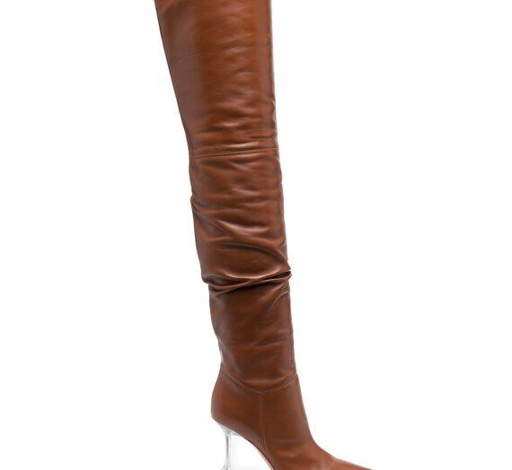 Olivia Leather Boots дамски обувки Amina Muaddi 844347831_37