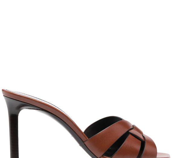 Tribute Leather Mules дамски обувки Saint Laurent 845057280_37_5