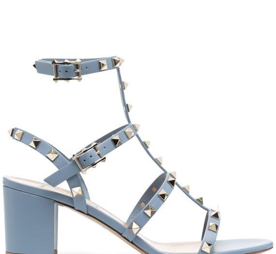 Rockstud Leather Sandals дамски обувки Valentino Garavani 845410384_35