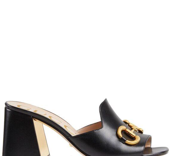 Horsebit Leather Mule Sandals дамски обувки Gucci 845487866_36