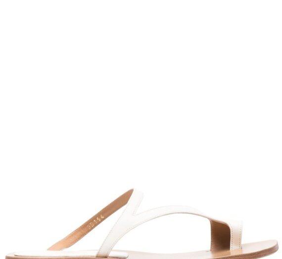Leather Flat Thong Sandals дамски обувки Dries Van Noten 845940540_37