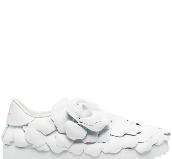 Atelier Rose Edition Leather Sneakers дамски обувки Valentino Garavani 846029460_35