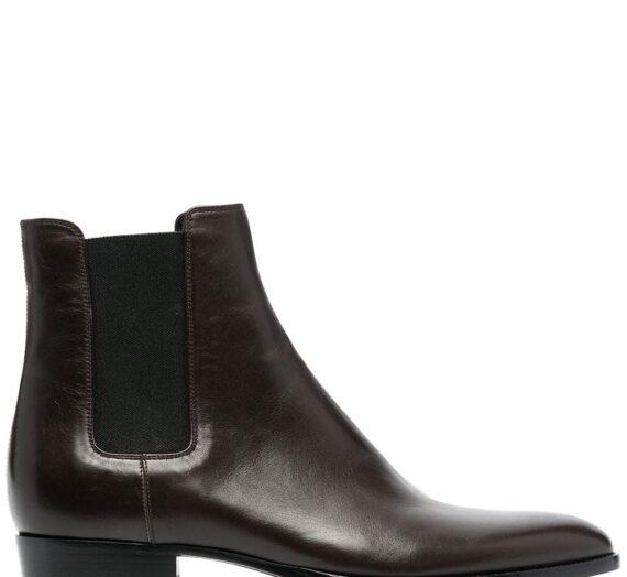 Wyatt Leather Chelsea Boots мъжки обувки Saint Laurent 846072536_41_5