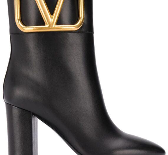 Vlogo Leather Booties дамски обувки Valentino Garavani 846168093_36