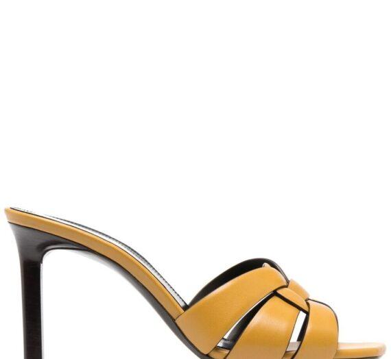 Tribute Leather Sandals дамски обувки Saint Laurent 847051775_36