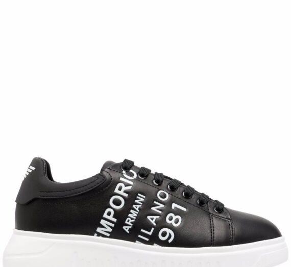 Logo Leather Sneakers дамски обувки Emporio Armani 847208026_35