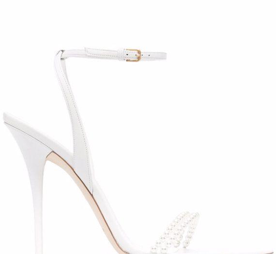 Luna Leather Heel Sandals дамски обувки Saint Laurent 847484148_39