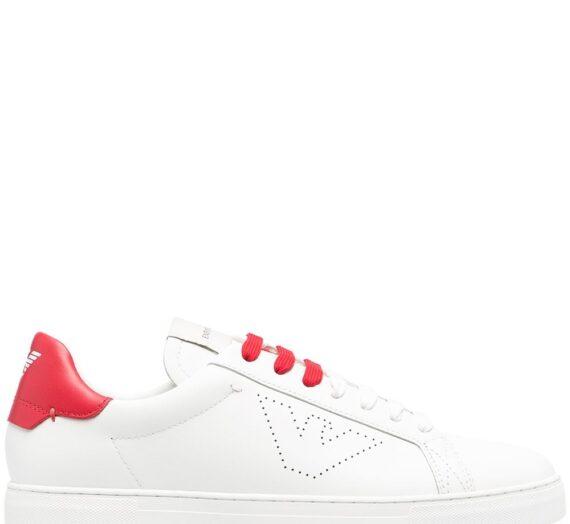 Logo Leather Sneakers мъжки обувки Emporio Armani 847572427_8