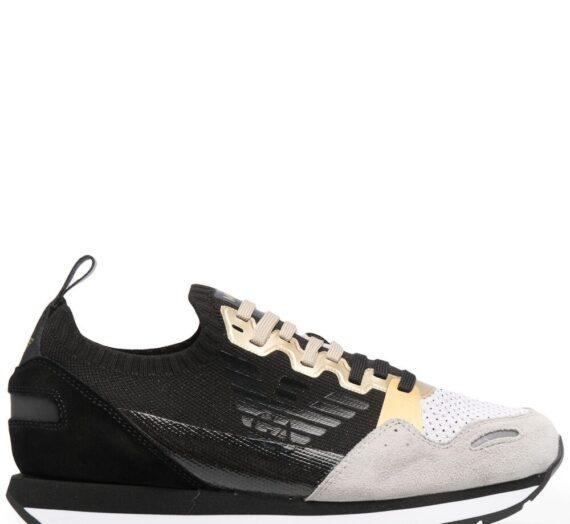 Logo Leather Sneakers дамски обувки Emporio Armani 847973872_35