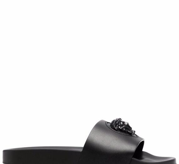 Leather Sandals мъжки обувки Versace 848981535_40