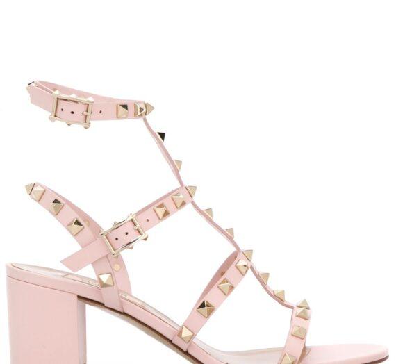 Rockstud Leather Sandals дамски обувки Valentino Garavani 849105000_35_5