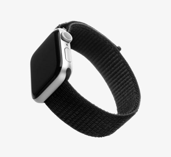 Други аксесоари Apple FIXED Nylon Strap for Apple Watch 44mm/ Watch 42mm Black 893797