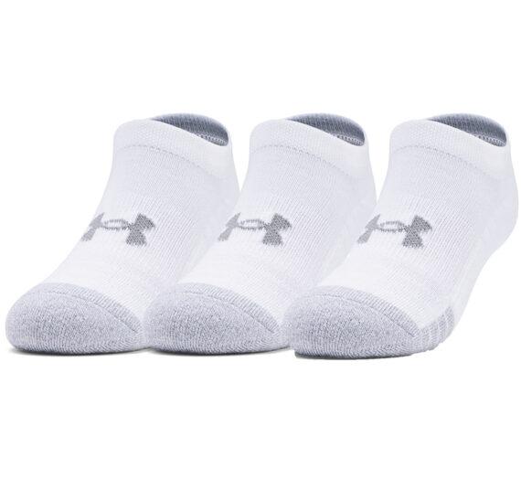 Чорапи Under Armour Yth Heatgear No Show 3 Pack Socks White/ White/ Steel 903151