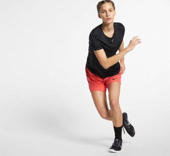 Жени  Дамско облекло  Блузи  Функционални тениски и потници Nike Mesh Short Sleeve T Shirt Ladies 963553-5959630
