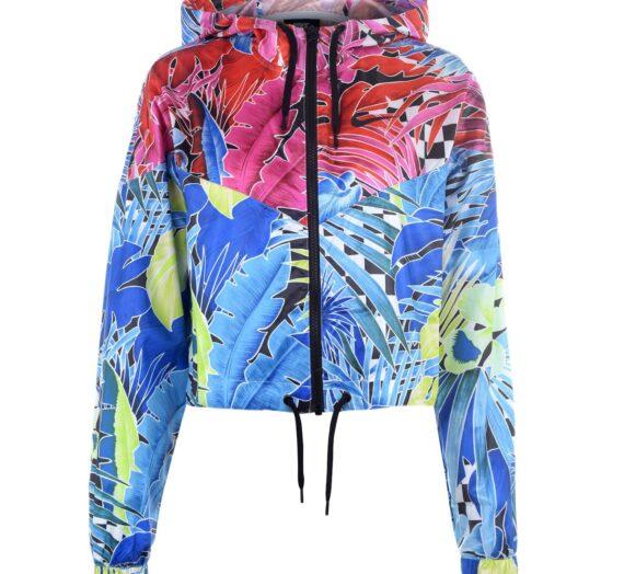 Жени  Дамско облекло  Якета & Палта  Леки спортни якета Nike Womens Tropical Print Jacket 988564-6080782