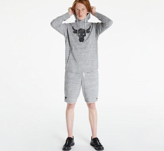 Суичъри и пуловери Under Armour Project Rock Terry Hoodie Light Grey 1045099