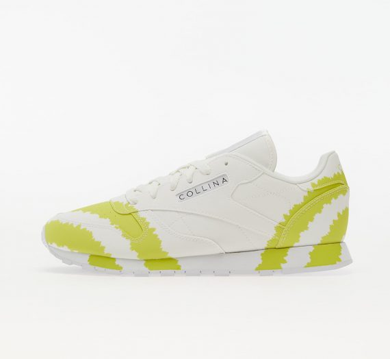 Дамски кецове и обувки Reebok x Collina Strada Classic Leather Ftw White/ Digital Blue/ Active Yellow 662830