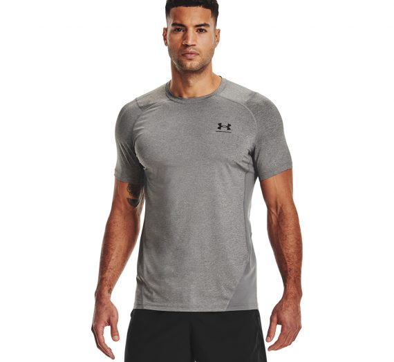 Тениски Under Armour Hg Armour Fitted SS Carbon Heather/ Black 764386