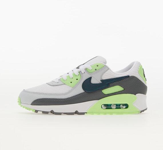 Мъжки кецове и обувки Nike Air Max 90 White/ Aquamarine-Lime Glow-Off Noir 817510