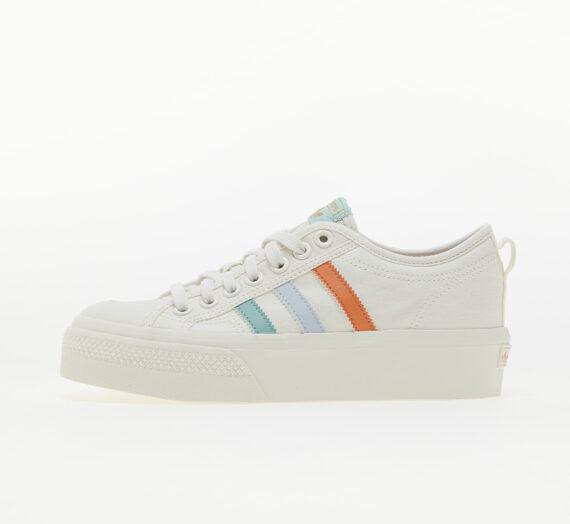 Дамски кецове и обувки adidas Nizza Platform W Cloud White/ Halo Blue/ Off White 832939