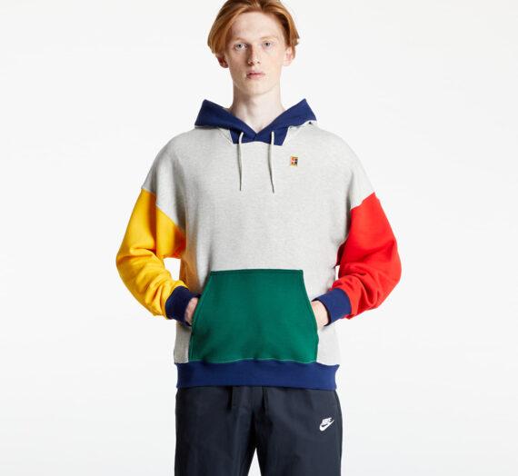 Суичъри и пуловери NikeCourt M Fleece Tennis Hoodie Grey Heather/ Gorge Green 864238