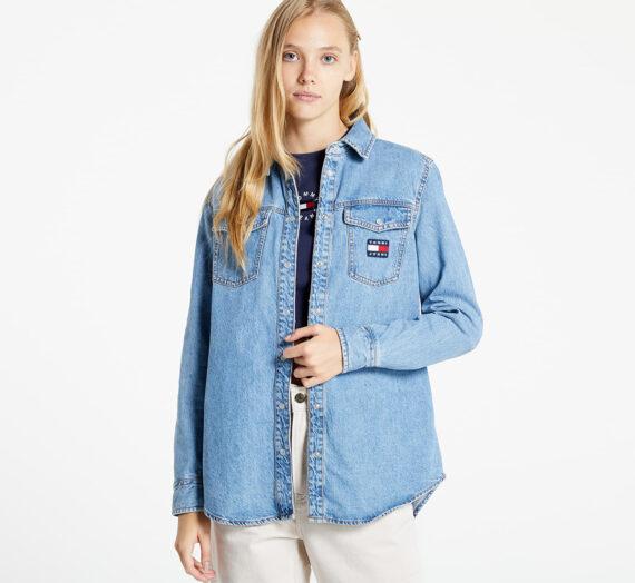 Ризи Tommy Jeans Rlx Denim Shirt Denim Medium 975382
