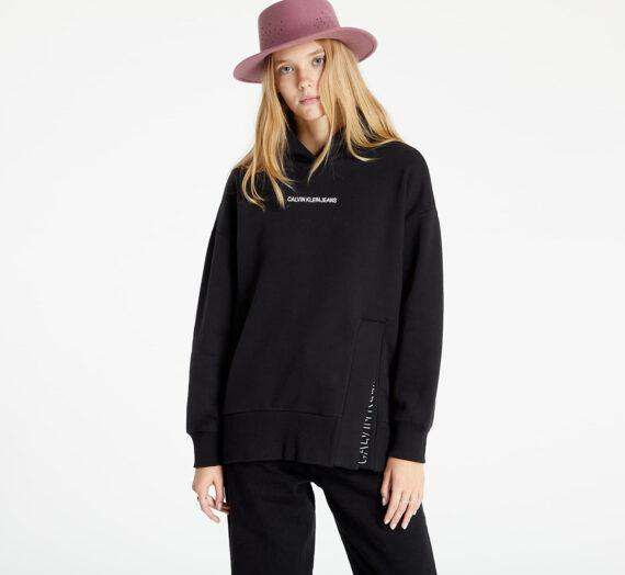 Суичъри и пуловери Calvin Klein Jeans Shadow Logo Split Hoodie Ck Black 976024