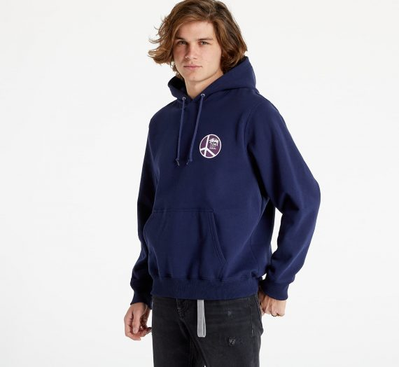 Суичъри и пуловери Stüssy Peace Dot Hood Navy 1043953