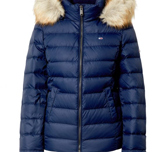 Tommy Jeans Зимно яке  нейви синьо 41443253