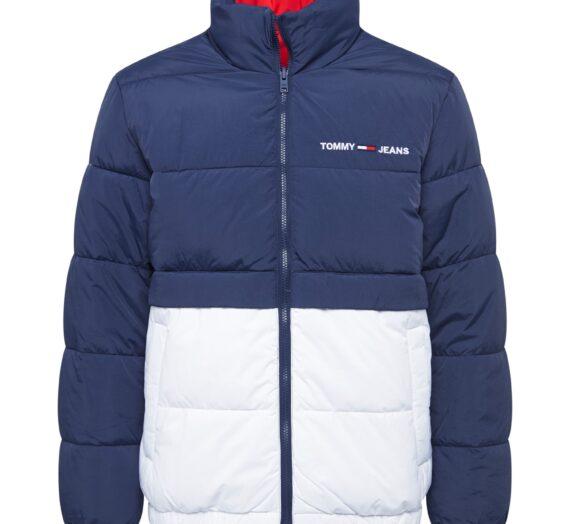 Tommy Jeans Зимно яке  морскосиньо / бяло / нейви синьо / червено 46642198