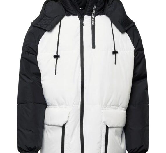 Calvin Klein Jeans Зимно яке  бяло / черно 46721062