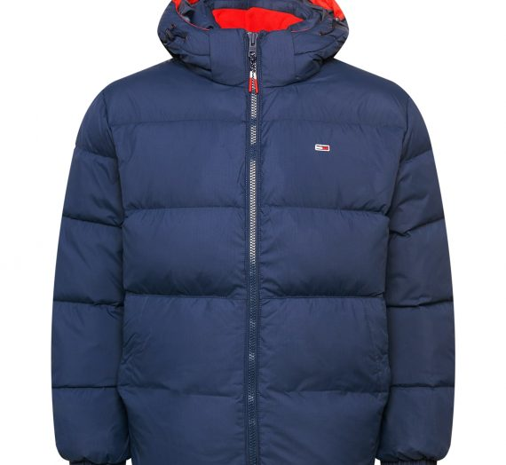 Tommy Jeans Зимно яке  нейви синьо / бяло / огнено червено 46852795